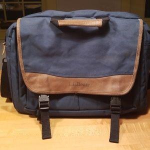 LL Bean greenish-blue tote/briefcase/satchel
